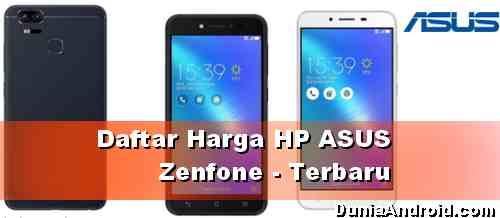 Daftar Harga Asus Zenfone terbaru 2020