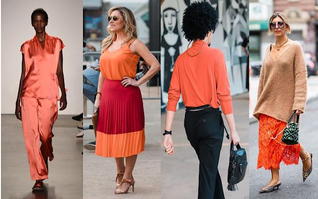 Looks de pessoas usando a cor Living Coral