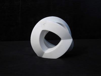 Marble stone sculpture by Kiwame Kubo