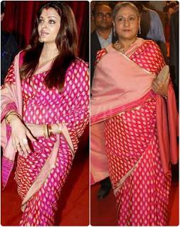 Aishwarya Rai Bachchan with Jaya Bachchan