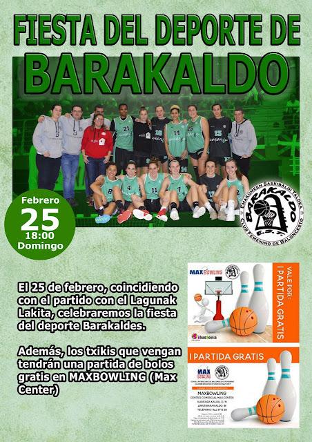 cartel de la fiesta del deporte del Barakaldo EST