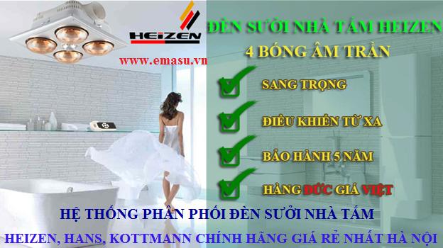 Mua đèn sưởi nhà tắm Hans, heizen, kottmann chính hãng ở đâu tại Hà Nội