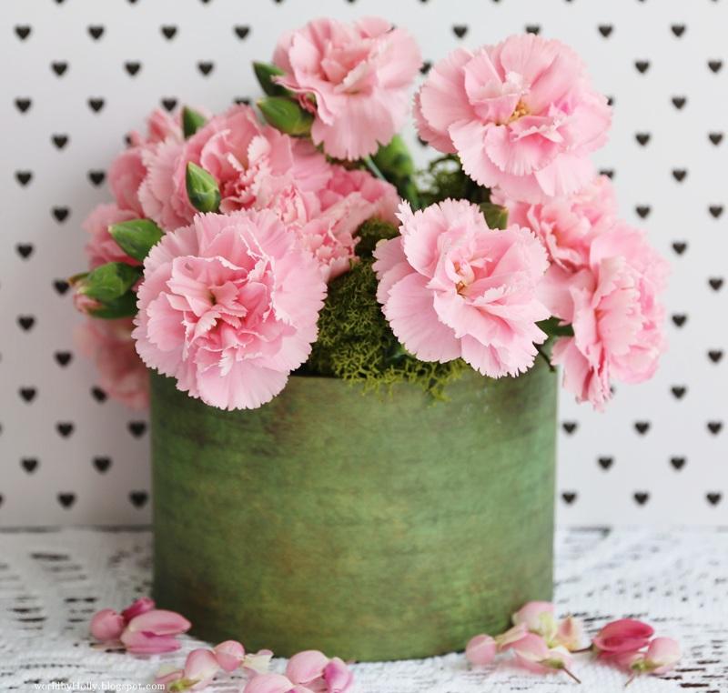 Flower box, jak zrobić koszyczek na kwiatki