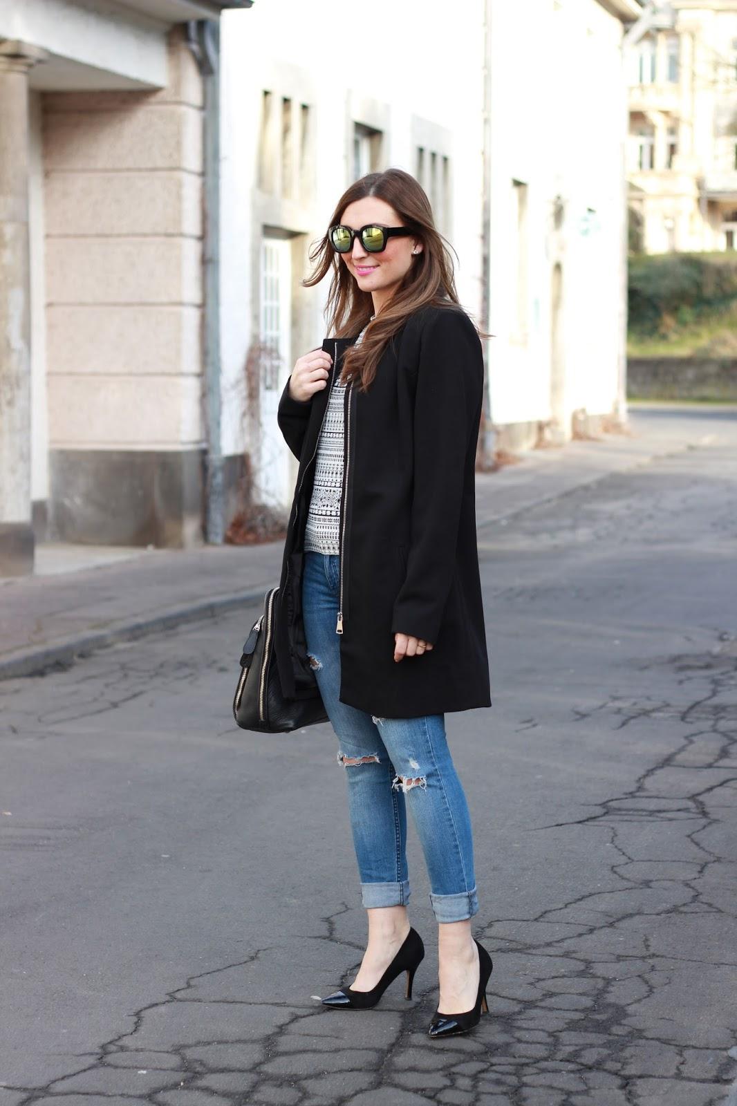 Fashionblogger aus Deutschland - Frankfurt Fashionblogger - German Fashionblogger - Tamaris Heels - Tamaris Schuhe - Schwarze Pumps Blogger