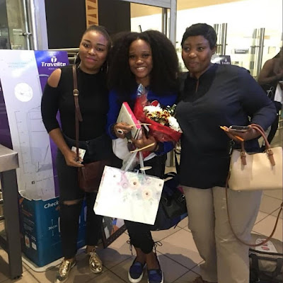#BBNaija: First Photos Of Cee-C At The Airport In S.A