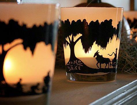 candelabro, porta velas, siluetas, casero, manualidades, decoración