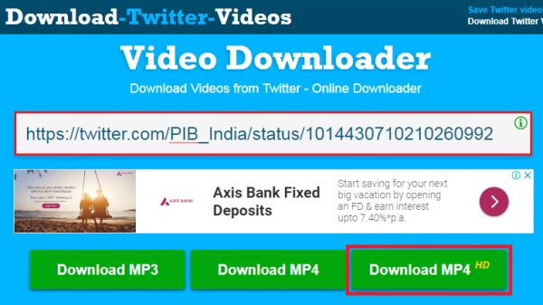 how to download twitter videos without software