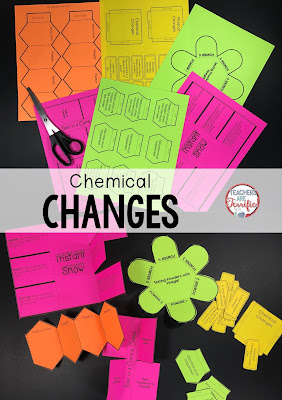 Chemical Changes: Interactive notebook templates make this study fun! Check this blog post for details!