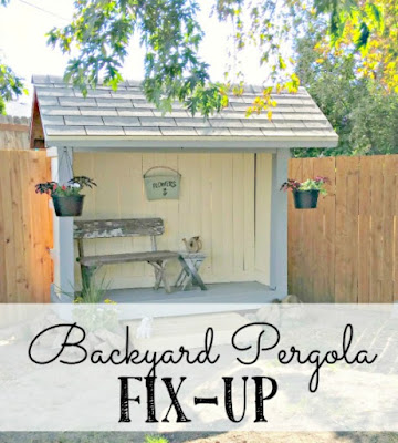 Fixing up a backyard pergola