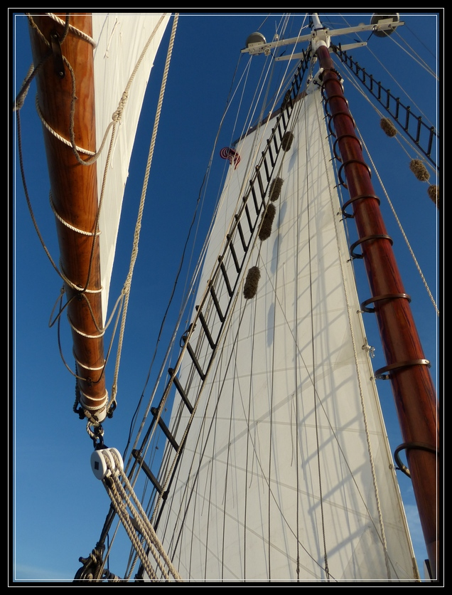 Aboard the Thomas E. Lannon Schooner