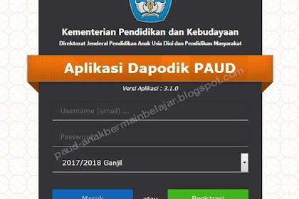 CARA INSTAL DAPODIK PAUD APLIKASI VERSI 3.1.0 TAHUN 2017
