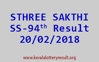 STHREE SAKTHI Lottery SS 94 Results 20-02-2018