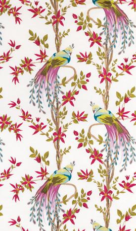 Bobbin scissors thread a little birdy told me - Nina campbell paradiso wallpaper ...