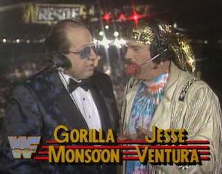 WWF / WWE: Wrestlemania 5 - Jesse Ventura and Gorilla Monsoon were our commentators for the evening