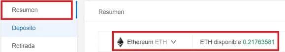 saldo ethereum en kucoin