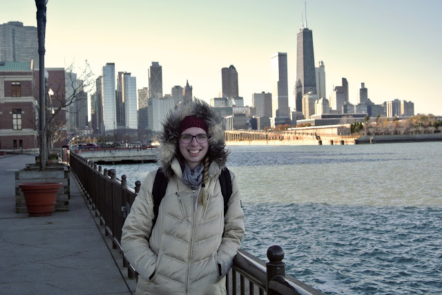 chicago skyline navy pier lake michigan hancock tower