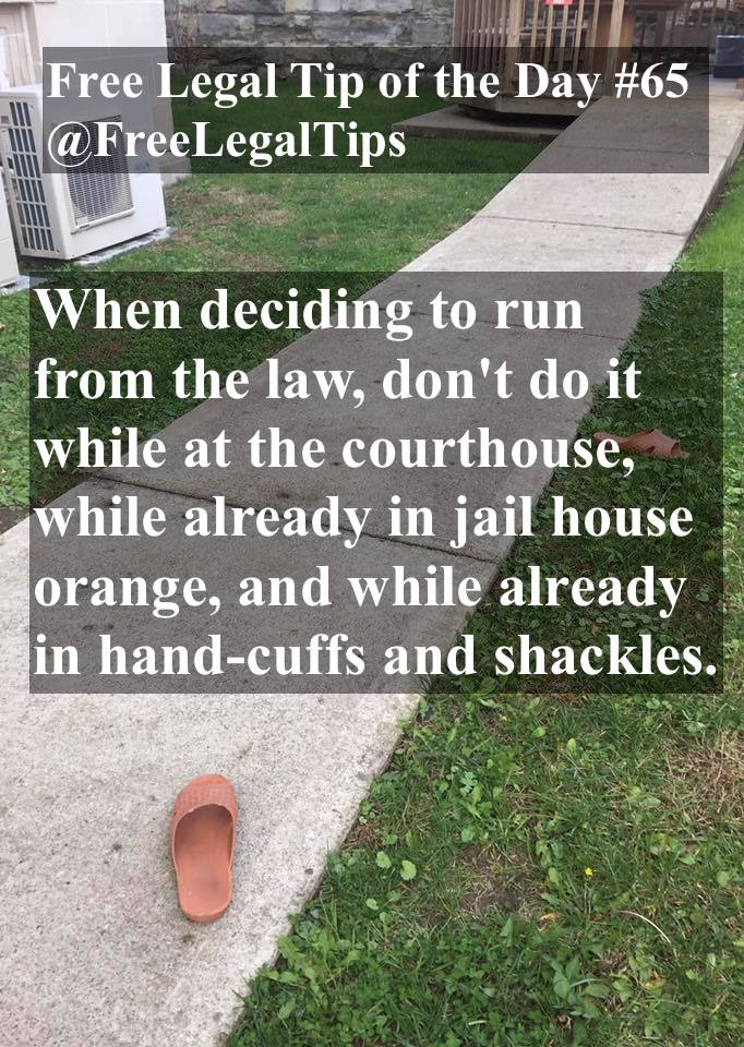 Free Legal Tip of the Day #65 shoes left behind @freelegaltips