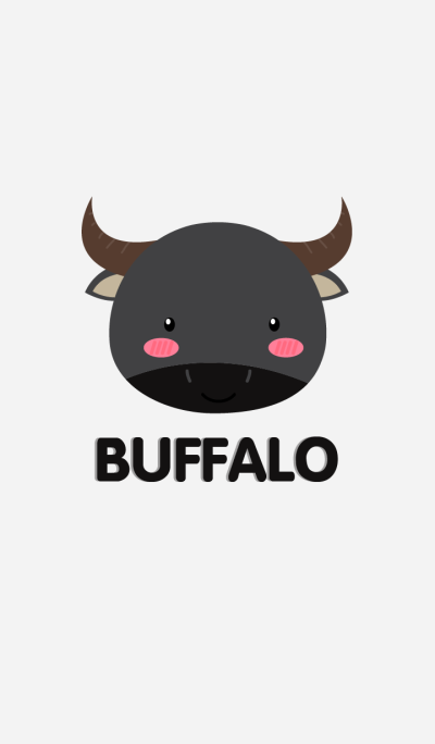 Simple Cute Face Buffalo Theme