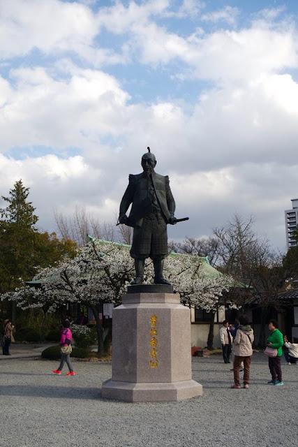 Statue of Hideyoshi Toyotomi in Osaka Castle Japan
