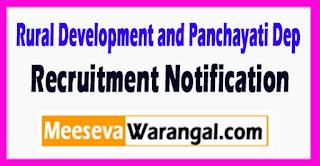RDPD (Rural Development and Panchayati Department  ) Recruitment Notification 2017