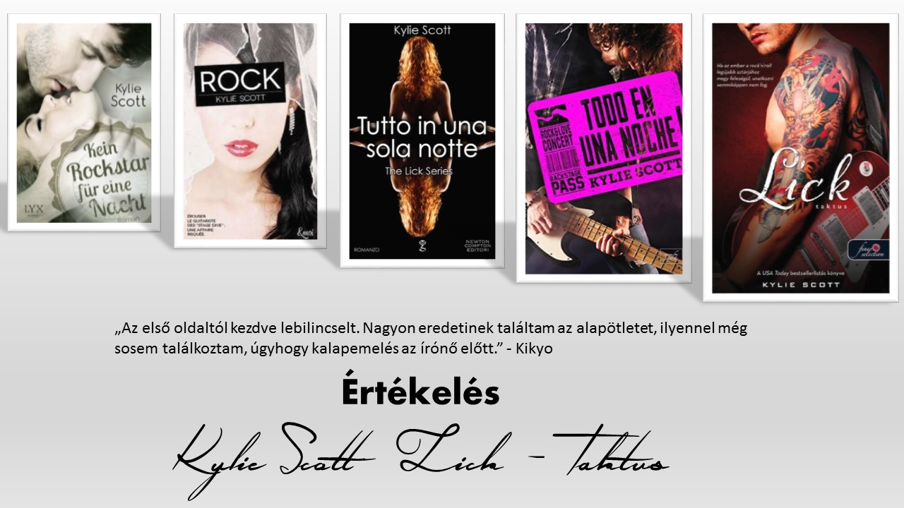 Értékelés - Kylie Scott: Lick -Taktus