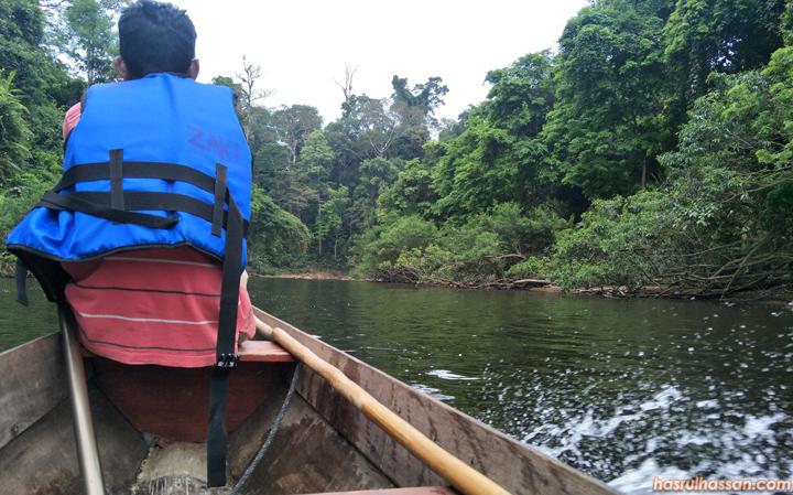 Lubuk ikan di Sungai Tahan Taman Negara