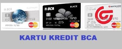 Jenis kartu kredit pertama BCA