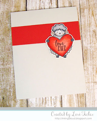 Love Ewe card-designed by Lori Tecler/Inking Aloud-stamps and dies from Avery Elle