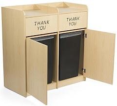 Restaurant Trash Bin Cabinet