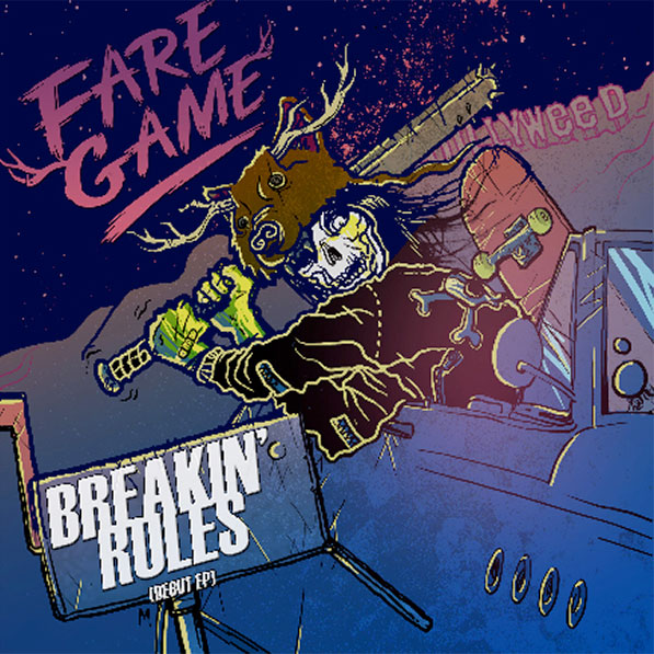 "Fare Game stream new EP ""Breakin' Rules"""