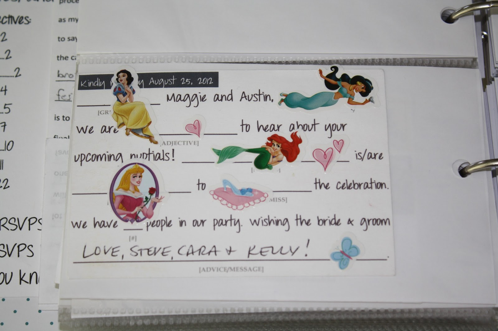 The Golden Means Mailbox Love Brought To You By Wedding Mad Lib Rsvp Cards
