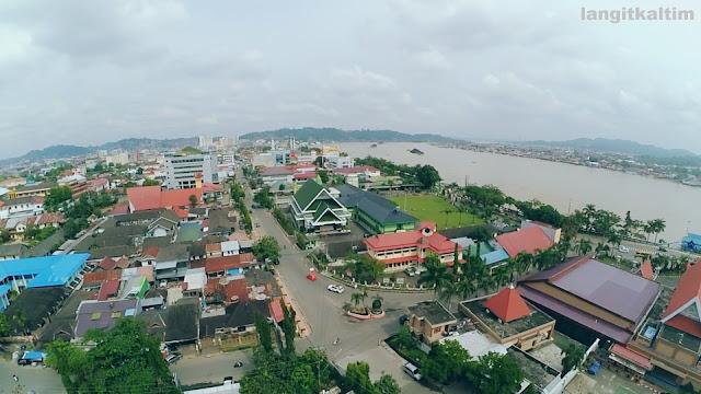 Foto Udara Lapangan Kinibalu Samarinda