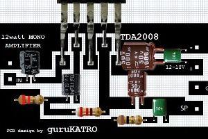 12 Volt Amplifier 12 watt with TDA2008
