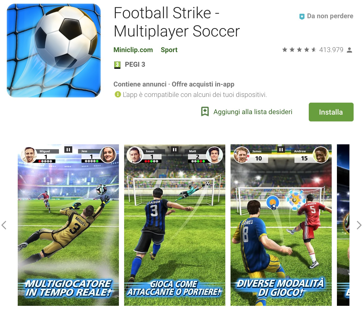Trucchi Football Strike – Multiplayer Soccer  Mod Apk Android