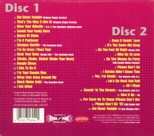 kc and the sunshine band greatest hits flac