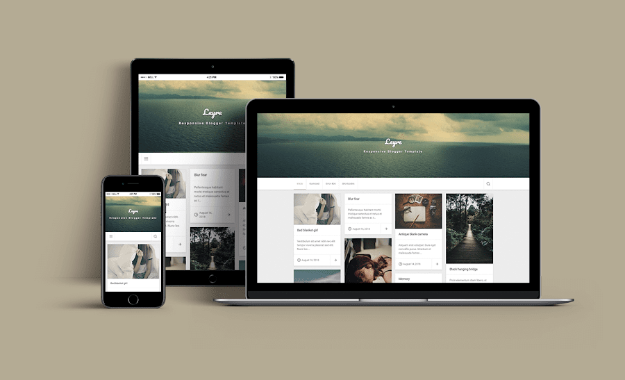 Leyre - Tema blogger personal responsive