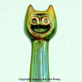 Zsolnay Hungary Eosin Cat Porcelain Figurine Closeup
