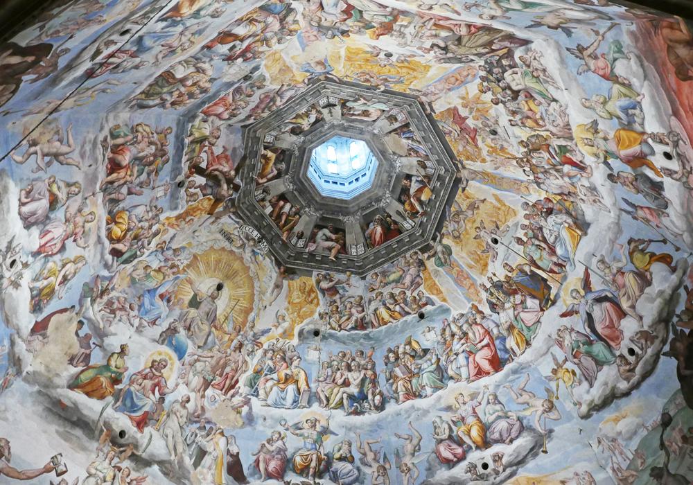 Peinture de la coupole du Duomo de Florence