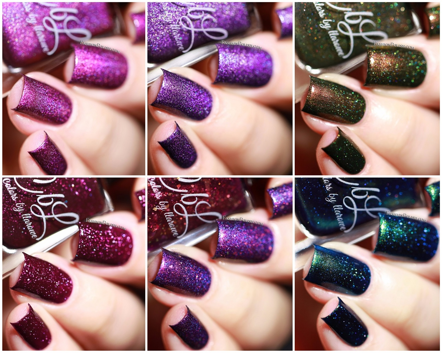 Fashion Polish: Colors by Larowe winter 2017 collection swatches ...