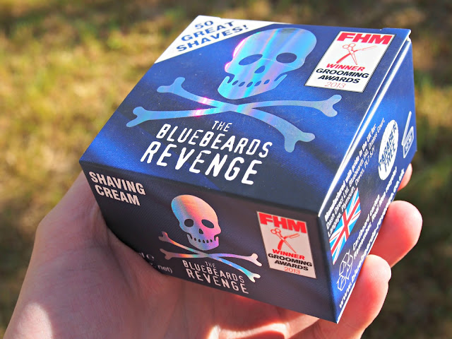 bluebeards revenge shaving cream packaging