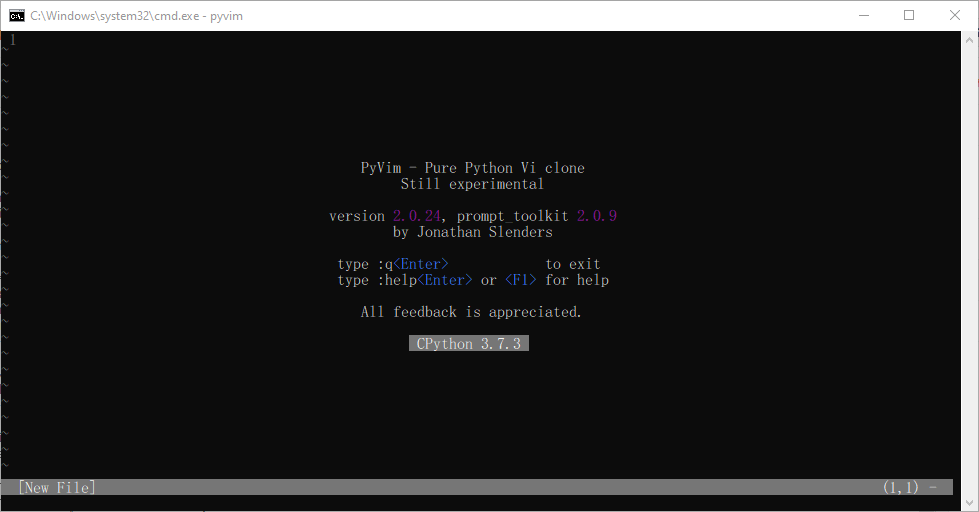 PyVim - Vim ในภาษา Python