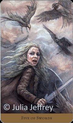 Five of Swords Tarot of the Hidden Realm Julia Jeffrey