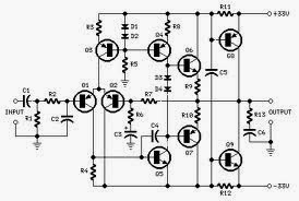 wiring schematic diagram 70 watt guitar amplifier using 2n30055 mj2955 transistor. Black Bedroom Furniture Sets. Home Design Ideas