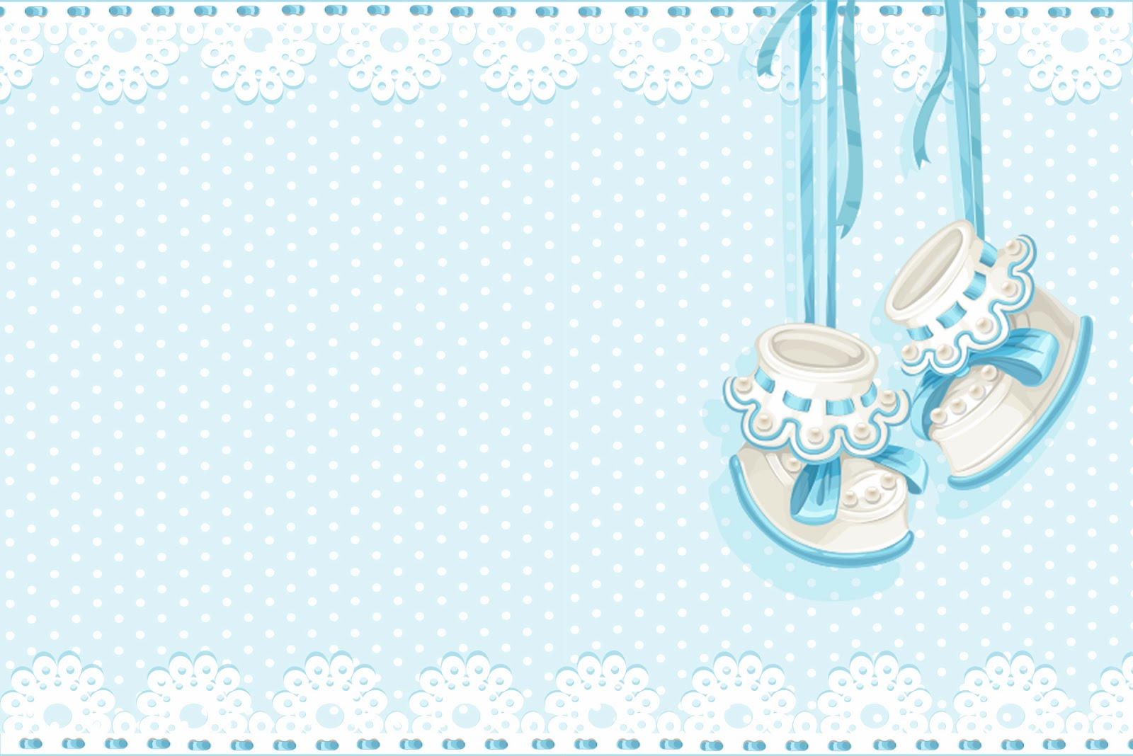 Baby Shoes Printable Cards Invitations