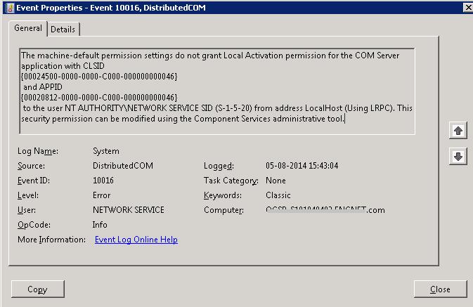 Windows 10 System Error Event Id 10016 PC crashed Error