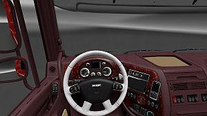 Burgundy & Black and White interior for DAF XF
