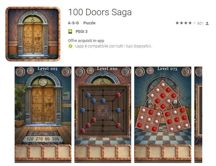 Soluzioni 100 Doors Saga di tutti i livelli
