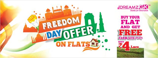 free plot on booking flat