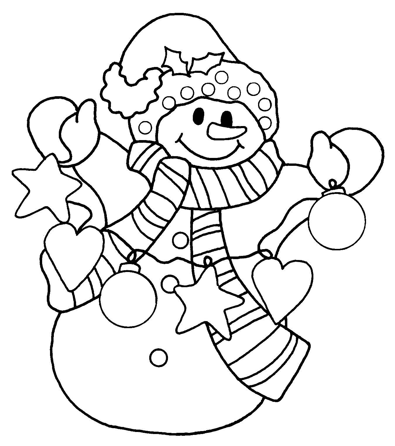 snowman coloring pages - photo#3