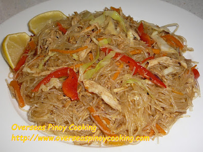 Pansit Sotanghon with Roast Chicken Breast